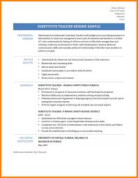 4 Resumes Samples For Teachers by Sample Resume For Substitute Teacher