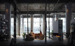 3 Stylish Industrial Inspired Loft Loft Living Room Design With Modern Industrial Style Roohome