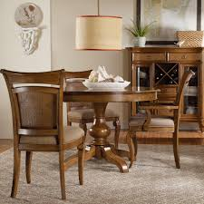 Slaters Furniture Modesto by Hooker Furniture Windward Pedestal Dining Table U0026 Raffia Chairs
