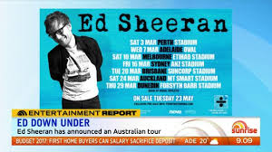 ed sheeran tour 2017 ed sheeran adds second perth stadium show the west australian