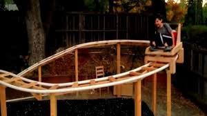 roller coaster for backyard calif father son team build roller coaster in their backyard