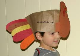 thanksgiving day turkey hat preschool crafts for