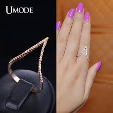 v shaped ring aliexpress buy umode top quality cz paved gold new