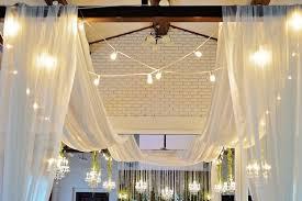 wedding ceiling draping 30 foot ceiling drape 4 beautiful sheer fabric panels