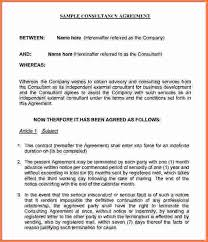 sample consulting agreementbusiness consulting agreement