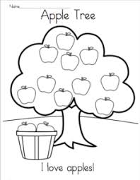 apple tree coloring pages coloring pages u2013 madebyteachers