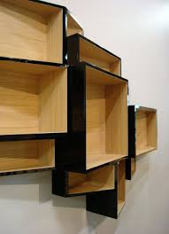 minimalist home library design with brown wooden varnished wall