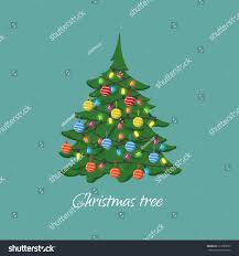 tree garlands balls style stock vector 511085635