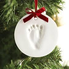 tiny idea s baby handprint or footprint ornament kit makes a