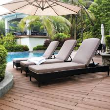 Pool Chaise Lounge Chairs Impressive Wicker Patio Chaise Lounge Poolside Furniture Brown