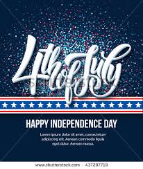 american independence day lettering design template stock vector