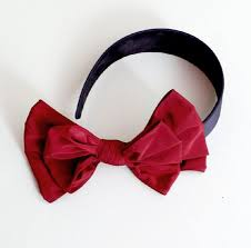 burgundy headband mae li burgundy side bow headband now in stock