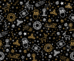 pattern for wrapping paper with icons the