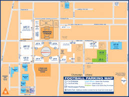 Illinois State University Campus Map by Illinois Athletics Football Game Day Guide