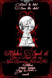 Sweet 16 Invitations Cards My Wonderland Sweet 16 Alice In Wonderland Party Invites