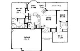 dimensioned floor plan ranch style house plan 3 beds 2 baths 1551 sq ft plan 58 197