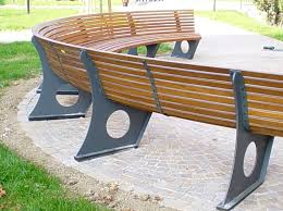 curved bench cushions outdoor curved outdoor bench and their