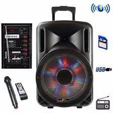 Party Speakers With Lights Karaoke Speakers Ebay
