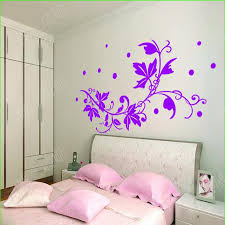 home decor tv wall living purple wall stickers flowers home decor tv background