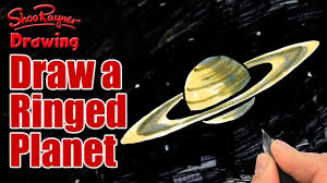 how to draw a ringed planet like saturn youtube
