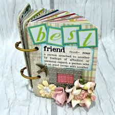 best friend photo album best friend a z friendship scrapbook photo mini album atc a to z