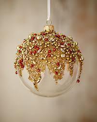 gold glitter collection clear golden ornament by silverado