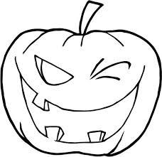 winking halloween pumpkins coloring winking halloween