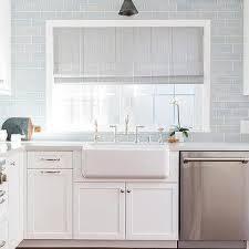 glazed blue kitchen backsplash tiles design ideas