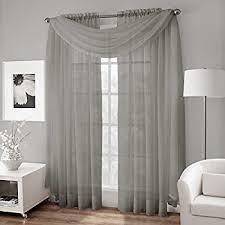 Sheer Gray Curtains 2 Solid Grey Gray Sheer Window Curtains Drape