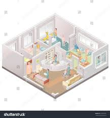nursing home assistedliving facility stock vector 219785260