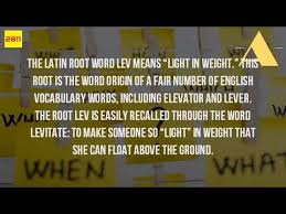 what is the latin root meaning light what is the latin root meaning of light youtube