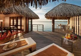 sand bungalow hut holiday tahiti evening beach lagoon tropical