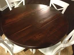 Dark Wooden Table Top Rustic Round Dining Table Tedxumkc Decoration