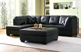 coffee table new black leather ottoman with tray tops storage