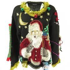 santa sweater sweater xl santa claus golden garland beaded