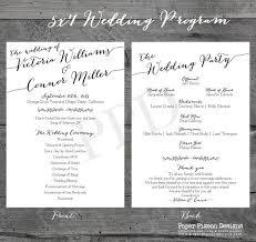 wedding program design free wedding program templates wedding program ideas