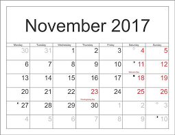 november 2017 calendar with holidays india usa uk canada free