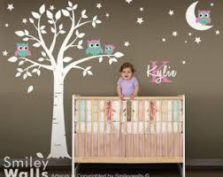 Etsy Wall Decals Nursery Owl Wall Decal Etsy