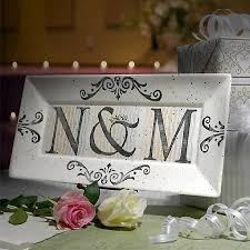 9th wedding anniversary gifts personalized initials wedding anniversary platter from modern artisans