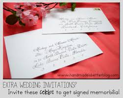 extra wedding invitations invite these celebrities to get signed