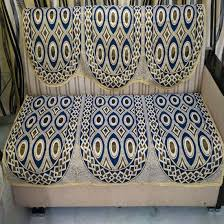 Sofa Cover Shops In Bangalore Blue Golden Cream Sofa Cover Floral Design Pack Of 6 U2013 Griiham