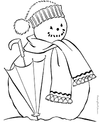 winter coloring pictures kid 023