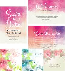 Invitation Card Download Watercolor Wedding Cute Cards Vector Free Download