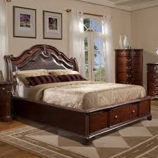King Bed With Storage Underneath Bed Frames Queen Platform Bed With Storage And Headboard Twin