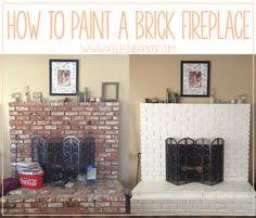 How To Paint A Brick Wall Exterior - how to paint brick brick fireplace makeover bricks and brick