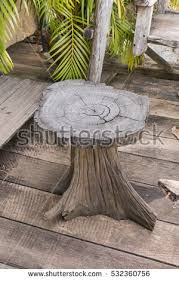 Stump Chair Sitting On Wooden Stump Stock Images Royalty Free Images