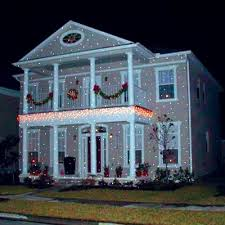 christmas projection lights light flurries projector creates the illusion of snow falling on