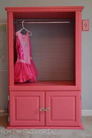 Clothes Cabinet Interiors Gorgeous Diy Dress Up Clothes Closet Upcycled Tv