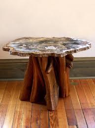 petrified wood end table petrified wood end table home stuff pinterest petrified wood