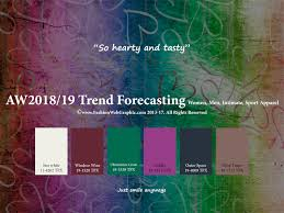 Winter Color Schemes by Autumn Winter 2018 2019 Trend Forecasting Is A Trend Color Guide